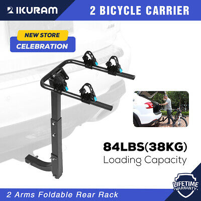 "IKURAM 2 Bicycle Bike Carrier Rack for Car Rear 2"" Hitch Mount Foldable Steel"