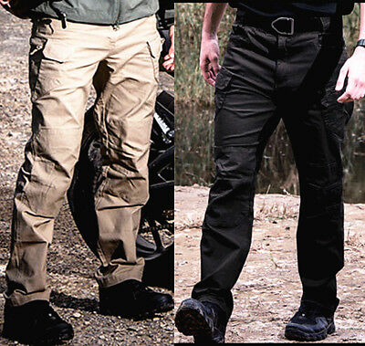 Mens Combat Tactical Cargo Forces Work Army Pants Military Camouflage Trousers