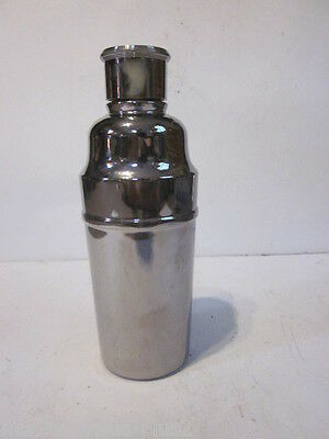 Vintage Mercury Glass Like Finish Drink Shaker B11 S.g. E