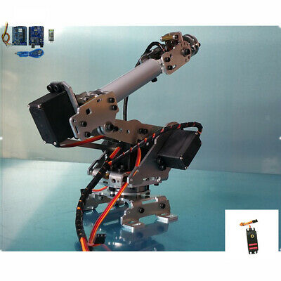 6 Axis Aluminium Robotic Mechanical Arm Gripper Kit with Servo For Arduino