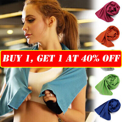 Instant Cooling Towel Ice Feeling Microfibre for Cycling Jogging Gym Sports Yoga