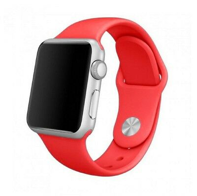 Para Apple Watch 44mm Serie 4 Recambio Correa reloj silicona Roja