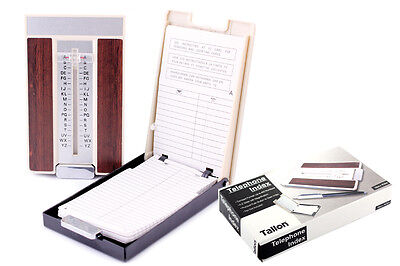 A-Z Slider Flip Open Telephone Address Index Book Store Up To 400 Numbers Retro