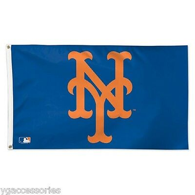 MLB New York Mets Wincraft Deluxe 3' X 5' Flag w/ Metal Grommets NEW