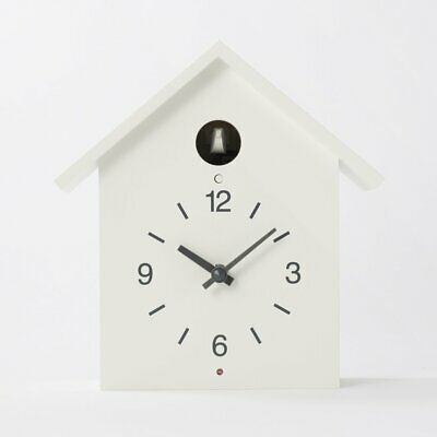 MUJI Mechanism of Cuckoo Clock Wall Clock Large Big White from Japan F/S