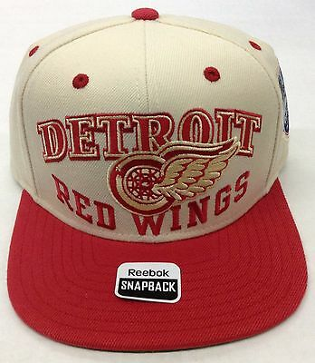 NHL Detroit Red Wings Reebok 2012 Winter Classic Snap Back Cap Hat Style NP41Z