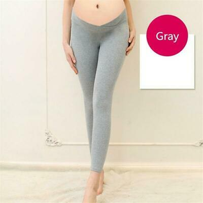 Women Low Waist Pregnancy Leggings Support Belly Pants Maternity Trousers LC