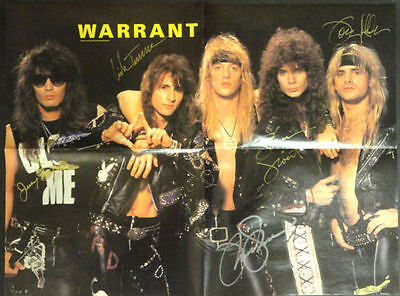 WARRANT JANI LANE Band SIGNED Autograph Photo POSTER Glam Metal OOP CD  Record
