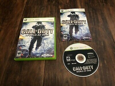 Call of Duty World at War (Xbox 360) BC Xbox One COMPLETE FPS Shooter WAW