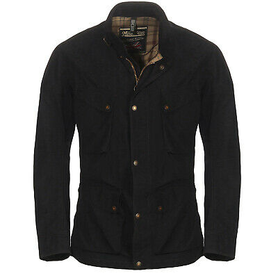 Matchless Men Summer Wax Jacket Real Classic Black 110038 SIZE L