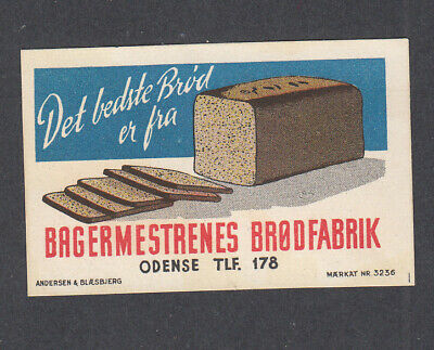 Denmark Poster Stamp   ODENSE RYE BREAD FACTORY