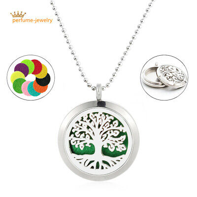 1set Stainless Steel HARLEY aromatherapy Diffuser Locket Pendant Necklace