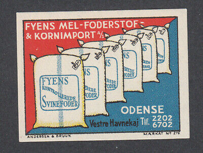 Denmark Poster Stamp  A&B  FYENS ANIMAL FEED  ODENSE