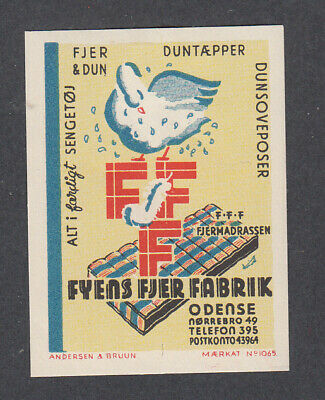 Denmark Poster Stamp  A&B  FYENS FEATHER FACTORY  ODENSE
