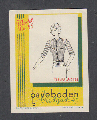 Denmark Poster Stamp  A&B  GAVEBODEN WOMENS FASHION CLOTHES MODEL # 86