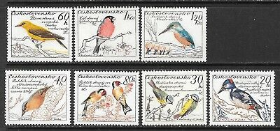 Czechoslovakia Sc 942-8 Mnh Issue Of 1959 - Birds