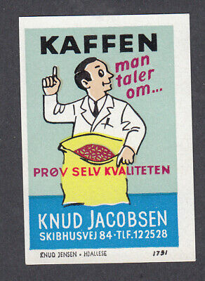 Denmark Poster Stamp  Knud Jensen  KNUD JACOBSEN COFFEE ROASTER ODENSE