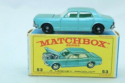 Matchbox Lesney No 53 Ford Zodiac MK IV - Made In England - Boxed