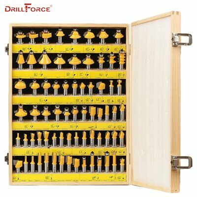 "Drillforce 70PCS 1/2""(12.7mm) Router Bits Set Professional Shank Tungsten"