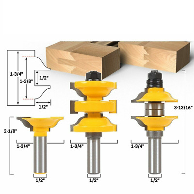 """Shank Entry Interior Door Ogee Matched R&S Router Bit Milling Wood 1/2"""""""
