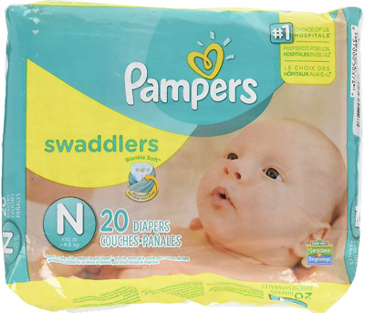 Pampers Swaddlers Diapers Newborn Diapers (Up to 10 lbs.)20 Count