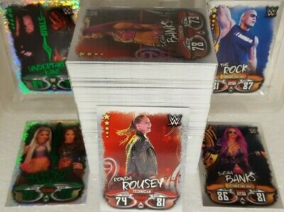 Topps WWE SLAM ATTAX LIVE Trading Card Set of 360 BASE / Raw 25 / RIVALS 2018