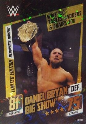 WWE SLAM ATTAX 2015 Then Now Forever LIMITED EDITION CARD Daniel Bryan DEF Big S