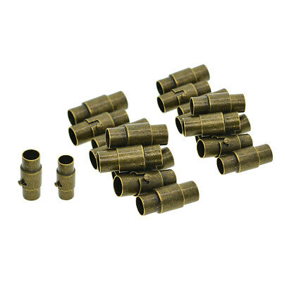 20pcs 4/5mm Glue In Magnetic Clasps End Cap for Leather Kumihimo Cord Bronze