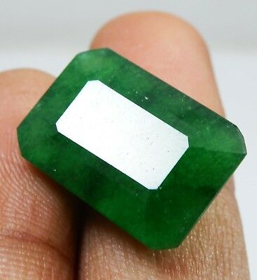 15.25 Cts Natural Certified Emerald Cut Colombian Emerald Loose Gemstone RK523 L