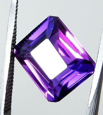 9.00Cts Natural  Certified Emerald Cut Multi-Color Sapphire Loose Gemstone RK34