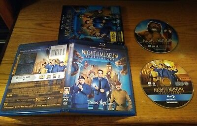 Night at the Museum Secret of the Tomb 2015 Blu-ray DVD 2 Discs FREE SHIPPING!!!