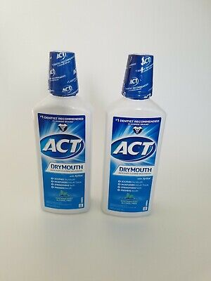 ACT Total Care Mouthwash Dry Mouth Soothing Mint 18 OZ Pack Of 3 Brand NEW