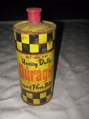 A Vintage Imperial Measure 1 Pint  Duraglo Chex Floor Polish Tin