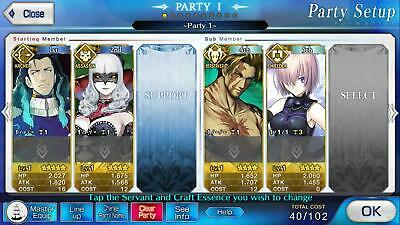 Fate Grand Order  Account FGO NA English 5* Tesla