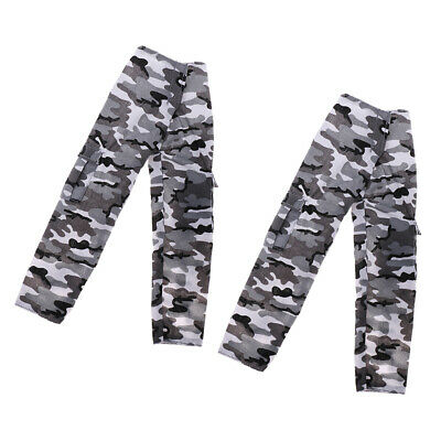 2pc 1/6 Camouflage Trousers Pants Uniform Clothes for 12inch Soldier Figures