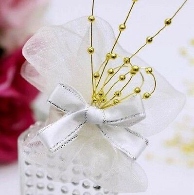 Gold 36 Strand x 12 Stems Pearl Bead Spray Strands Fascinator Corsage Bouquet