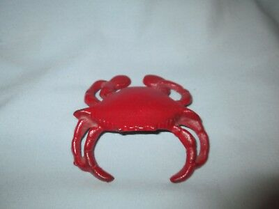 Vintage Cast Iron Figural Crab Bottle Opener Paperweight