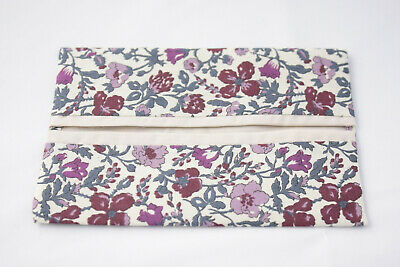 Cute pocket tissue//hankie holder ~ LIBERTY FABRIC MAUVERINA ~ cotton Tana Lawn