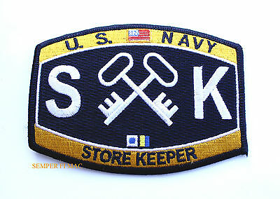 4f3c2ad6249 Store Keeper Sk Rating Hat Patch Us Navy Usn Pin Up Uss Enlisted Chief Gift  Wow