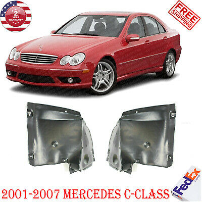 Front Lower Section Fender Liners For 2001-07 Mercedes W203 C-Class RH + LH 2Pc