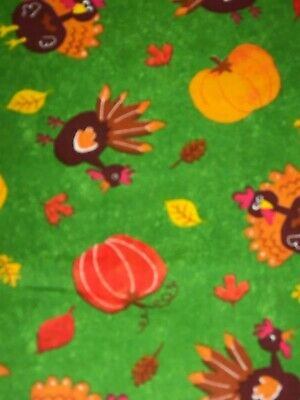 Fall Harvest Thanksgiving Turkey Pumpkins 100% COTTON FABRIC by the yard