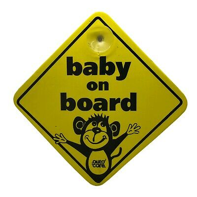 Baby On Board Car Window Child Safety Sign Foam Construction with Suction Cup
