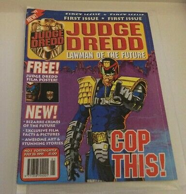 Judge Dredd Lawman Of The Future - Issue 1 1995. Free Poster. NEW.