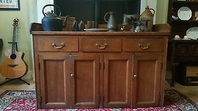 Antique 1870 Victorian Pine Wood Country Kitchen Sideboard Drawers Scottish Made