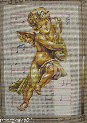 Cupid Playing Music (NEW) - Unstitched TAPESTRY/NEEDLEPOINT from SEG de Paris