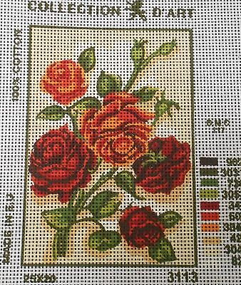 ROSES (RED & ORANGE) - Tapestry to Stitch (NEW) by Collection D'Art