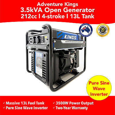 3.5kva Portable Inverter Petrol Generator Kings  Rated 3500W Pure Sine  Genset