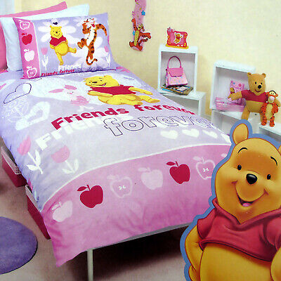 3 Pce Disney Licensed Winnie The Pooh Quilt Cover Set Friends Forever - DOUBLE