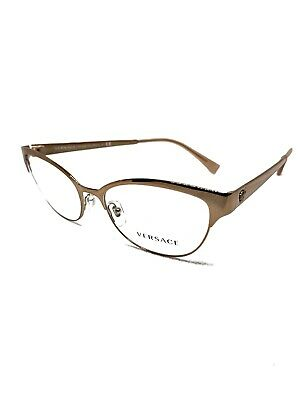 485b6088d24 AUTHENTIC VERSACE EYEGLASSES VE1240 1396 Copper Pink Frames 53MM Rx ...