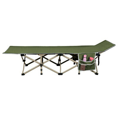 Folding Camping Bed Cot Outdoor Portable Military Sleeping Hiking Travel w/Bag